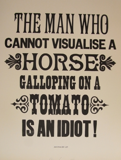 A Horse Galloping on a Tomato (Andre Breton) by Stephen Kenny