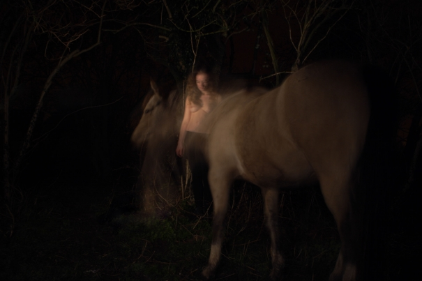 Woman & Horse by Iain Maitland