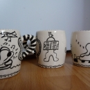 Coffee mugs serie of 6