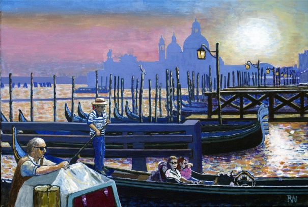 Gondolas in Venice by Richard Waldron