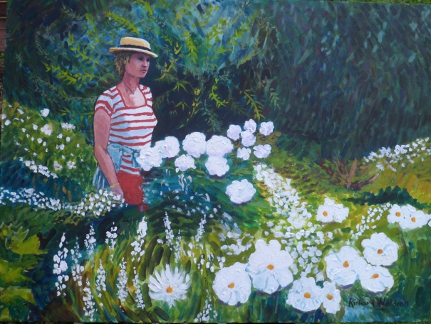 Roberta in the Garden by Richard Waldron