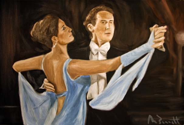 Ballroom dancers by Mark Bennett