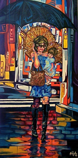 Modern Madonna and Child by Kerry Royle