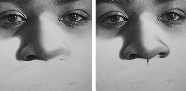 Kelvin Okafor - Drawing process