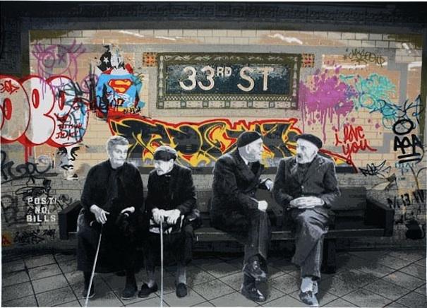 33rd Street by Mr Brainwash