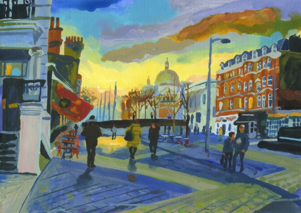 Kensington Evening, Towards the V&A by Abigail McDougall