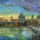 St Paul's From the Tate, Dusk