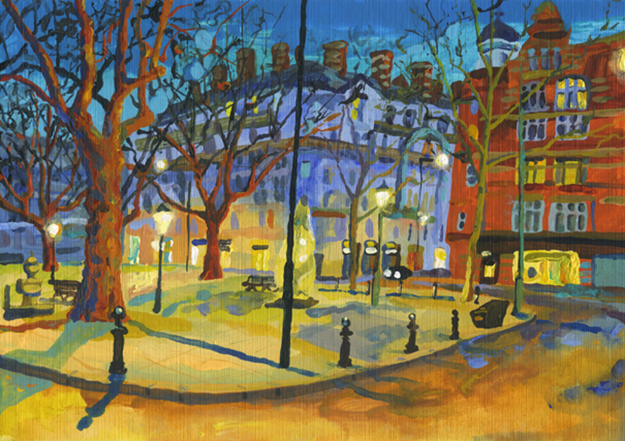 Evening Light, Sloane Square by Abigail McDougall