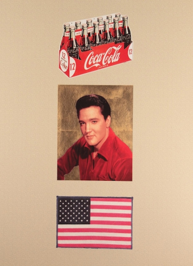 American Trilogy, Cream and Gold Diamond Dust by Sir Peter Blake