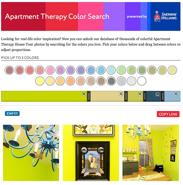 Apartment Therapy Colour Search