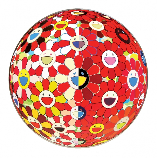 Flowerball red 3d the magic flute by takashi murakami for Buy affordable art online