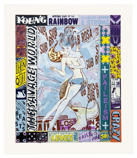 Sub Rosa World by Faile NYC