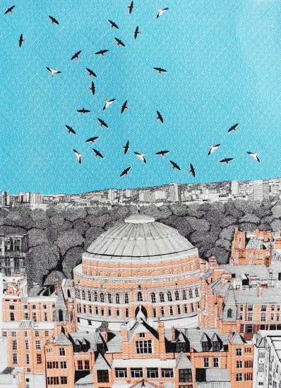 Rooftops at Royal Albert Hall by Clare Halifax