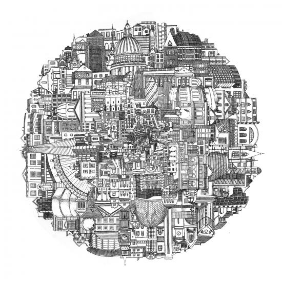 City Of London by Sylvia Moritz