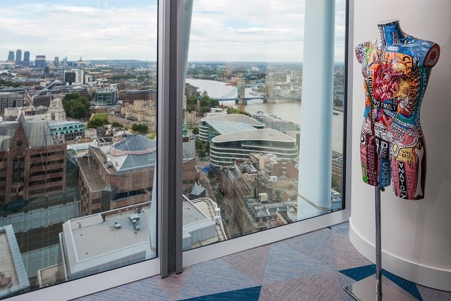 Artwork that conveys their brand and culture shard capital chose sculptures for their office in the walkie talkie building that you wouldnt normally