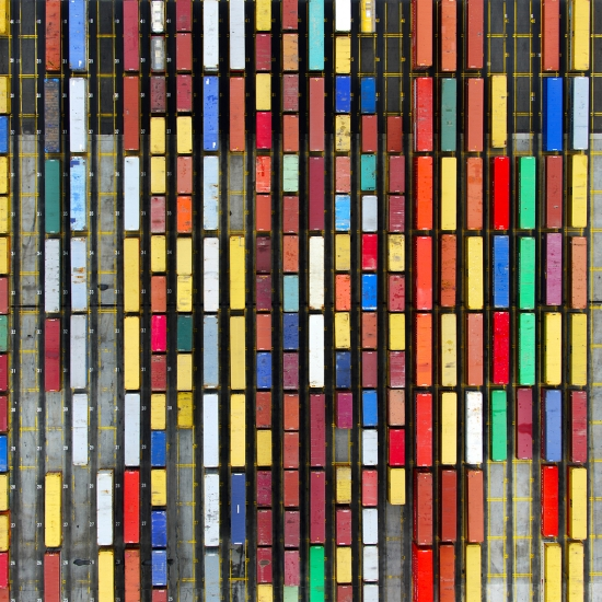 Coloured Containers by Tommy Clarke