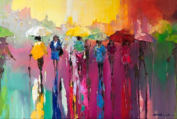 Walking with rainbow by ewa czarniecka buy affordable for Buy affordable art online