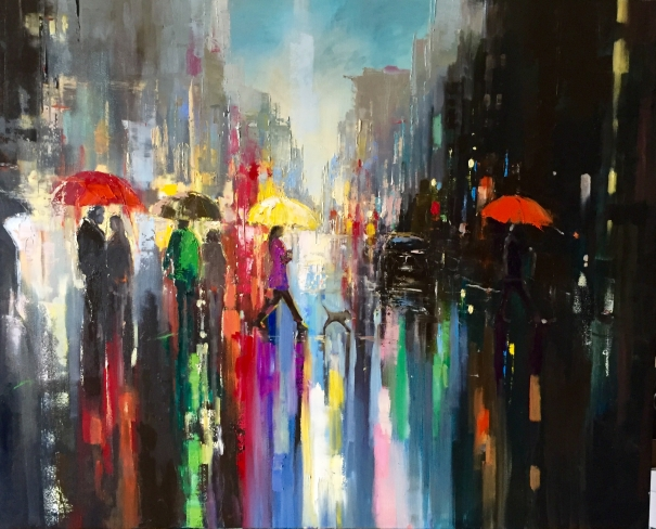 39 city lights 39 by ewa czarniecka buy affordable art for Buy affordable art online