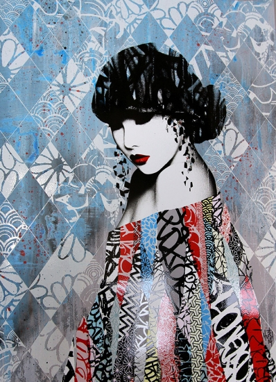 Rouge ii hand finished artist proof by hush buy for Buy affordable art online
