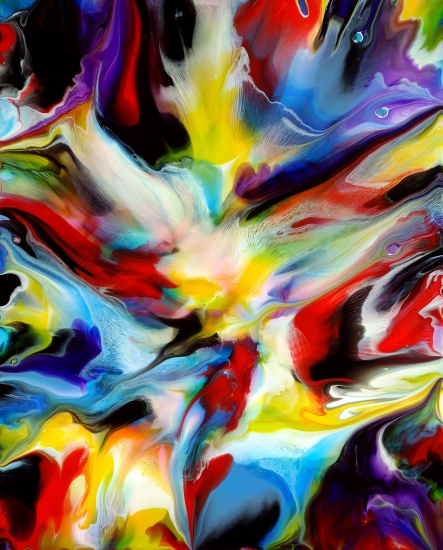 Fluid painting 107 by mark chadwick buy affordable art for Buy abstract art online