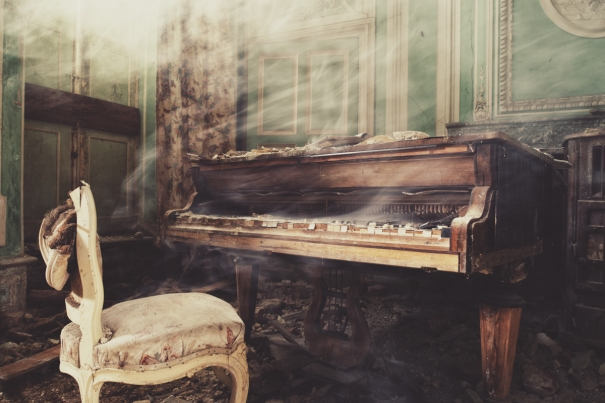 Castle Piano by Gina Soden