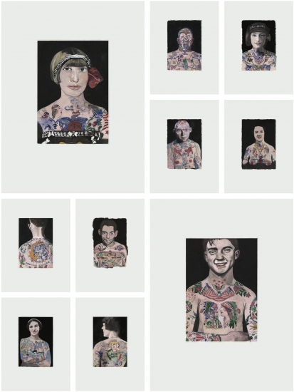 Tattooed People (set of 10 works) by Sir Peter Blake