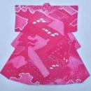 Edgy pink Kimono