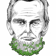 Abraham Lincoln with Cress Beard