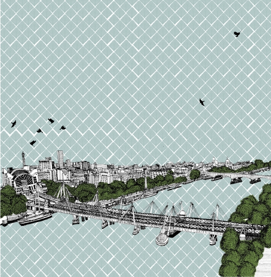 Hungerford Bridge  by Clare Halifax