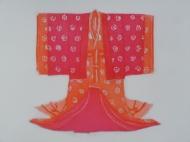 Shozoku gasane - pink and orange