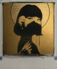 Fulfilled  24ct gold leaf Polaroid collage