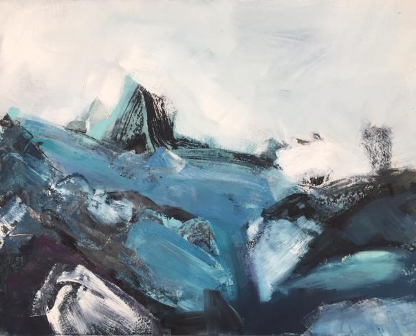 Stormy Seas, St Agnes by Trudy Montgomery