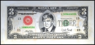 3$ BILL PAINTING - DONALD TRUMP