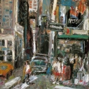 New York. West 32nd Street, Oil on Canvas, 28'' x 22''