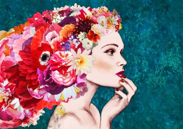 Girl in Bloom Large by Ellie Vandoorne
