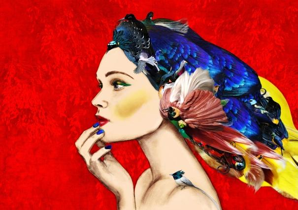 Girl of Paradise Large by Ellie Vandoorne