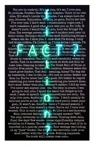 The Unbearable Paranoia of Being (fact fiction) - limited edition print