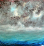 Grey skies- contemporary seascape