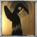 The light grows  24ct gold leaf Polaroid collage