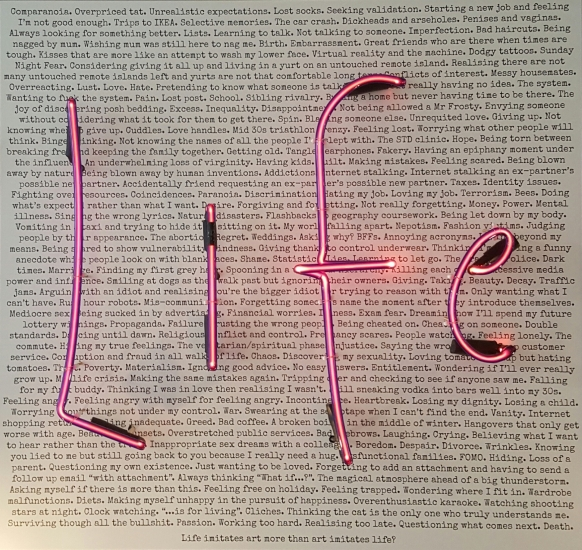 It's Complicated (pink version) - original neon art by Rebecca Mason