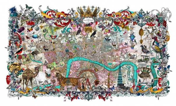 Royal Menagerie - Cary's London (Large) by Kristjana S Williams