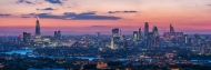 Evening Panorama Looking West over London with the Shard, Tower Bridge and The City