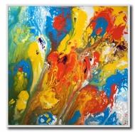 Original acrylic fluid oil painting