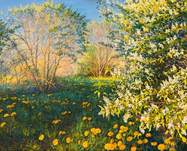 Spring Landscape by Elena Barkhatkova