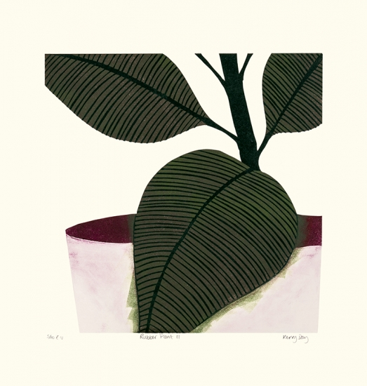 Rubber Plant III by Kerry Day