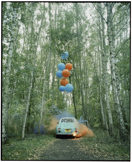 The Twins & the Green Car - 1 (medium size) by Vikram Kushwah