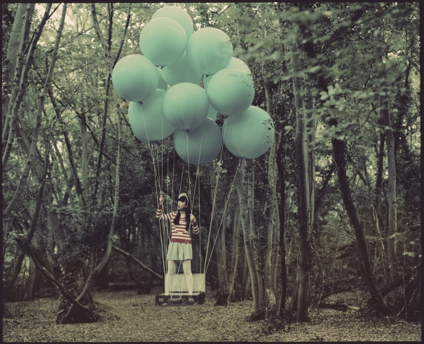 Elizabeth and the Blue Balloons (medium size) by Vikram Kushwah