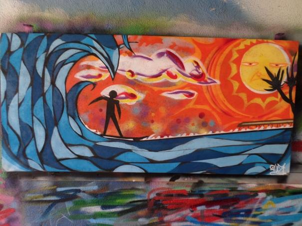 Surfers Sunset by JOHN GUZI