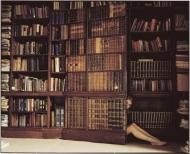 Emily Behind The Book Door (medium size)