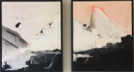 Diptych Abstract Landscape